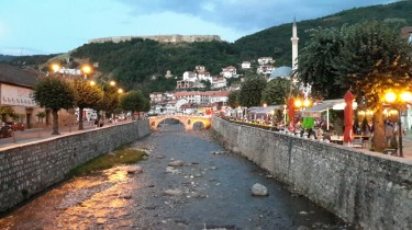 Prizren: the bridge over the Bistrica River