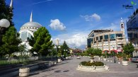 Old Town of Shkoder with the views of the Catholic Church, Orthodox Church and the Mosque