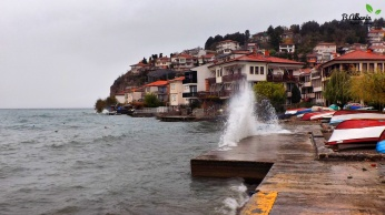 Waves in the Ohrid Lake