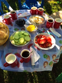 Breakfast in Bujtina Bashota
