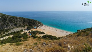 Gjipe Beach from above